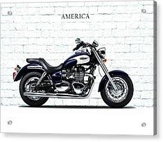 Triumph America Acrylic Print by Mark Rogan
