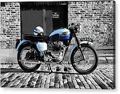 Triumph Bonneville T120 Acrylic Print by Mark Rogan