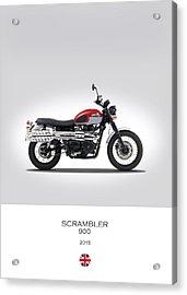 Triumph Scrambler 2015 Acrylic Print by Mark Rogan