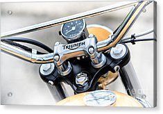 Triumph Scrambler Abstract Acrylic Print by Tim Gainey
