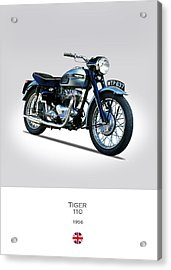 Triumph Tiger 110 1956 Acrylic Print by Mark Rogan