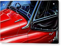Triumph Tr-3 Sports Car Detail Acrylic Print