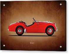 Triumph Tr3a 1959 Acrylic Print by Mark Rogan