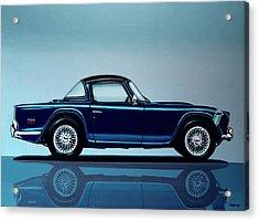 Triumph Tr5 1968 Painting Acrylic Print