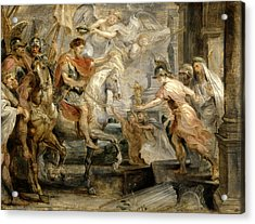 Triumphant Entry Of Constantine Into Rome Acrylic Print by Peter Paul Rubens