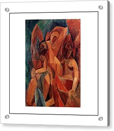 Trois Femmes Three Women  Acrylic Print by Pablo Picasso