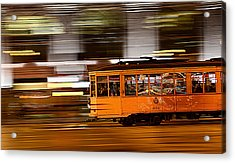 Trolley 1856 On The Move Acrylic Print by Steve Siri