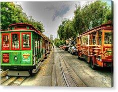 Trolley Cars Acrylic Print