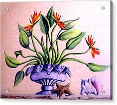 Trompe L'oeil  Birds Of Paradise Acrylic Print