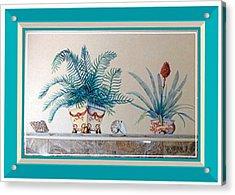 Trompe L'oeil Plants Acrylic Print