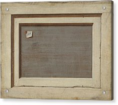 Trompe L'oeil. The Reverse Of A Framed Painting Acrylic Print by Cornelis Norbertus Gysbrechts