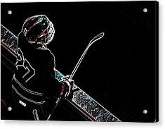 Tron Hockey - 1 Acrylic Print by Tya Kottler