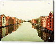 Trondheim On A Rainy Day Acrylic Print