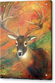 Trophy Deer Acrylic Print by Lynda McDonald