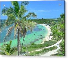 Tropic Beach Acrylic Print