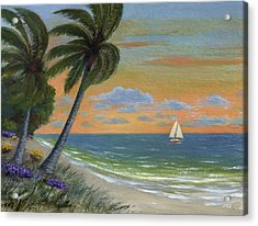 Acrylic Print featuring the painting Tropic Breeze by Gordon Beck