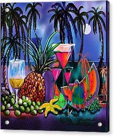 Tropica6 Tranquil Evening Acrylic Print by Steve Farr