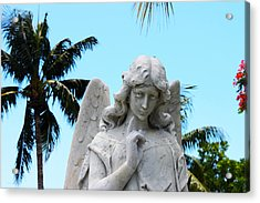 Tropical Angel With Tear Acrylic Print