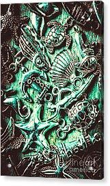 Tropical Bay Elements Acrylic Print