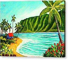 Tropical Beach #361 Acrylic Print by Donald k Hall