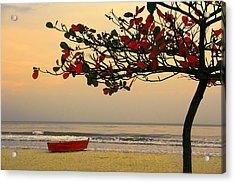 Acrylic Print featuring the photograph Tropical Beach Sunset by Kim Wilson