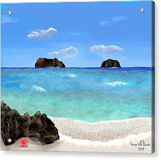 Tropical Beach Acrylic Print by Tanya Van Gorder