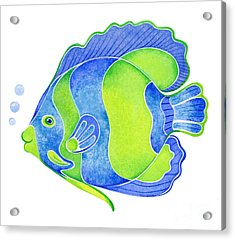 Tropical Blue Angel Fish Acrylic Print