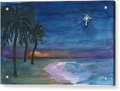 Acrylic Print featuring the painting Tropical Christmas by Donna Walsh