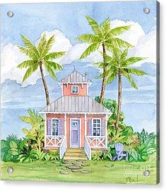 Tropical Cottage I Acrylic Print