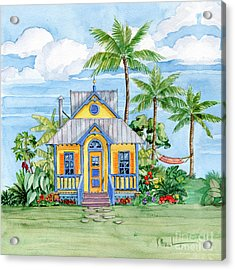 Tropical Cottage II Acrylic Print by Paul Brent