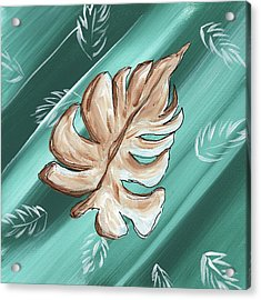 Tropical Dance 1 By Madart Acrylic Print by Megan Duncanson