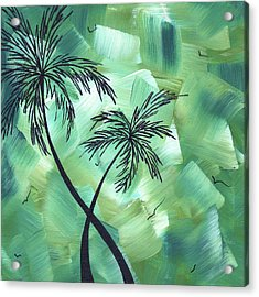 Tropical Dance 3 By Madart Acrylic Print by Megan Duncanson