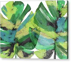 Acrylic Print featuring the mixed media Tropical Dreams 1- Art By Linda Woods by Linda Woods