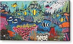 Tropical Fish Colors Acrylic Print