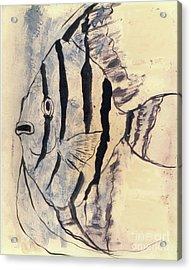 Tropical Fish Impressiion Acrylic Print by Doris Blessington