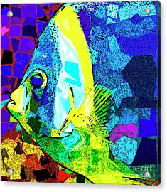 Acrylic Print featuring the photograph Tropical Fish In Abstract 20170325v3 Square by Wingsdomain Art and Photography