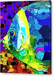 Acrylic Print featuring the photograph Tropical Fish In Abstract 20170325v3 by Wingsdomain Art and Photography