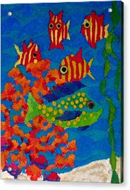 Tropical Fish Acrylic Print by Jeanette Lindblad