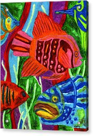 Tropical Fish Acrylic Print by Molly Williams