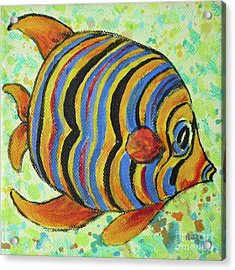 Tropical Fish Series 4 Of 4 Acrylic Print by Gail Kent