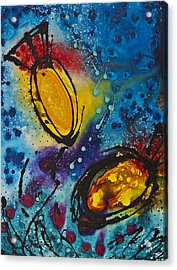 Tropical Flower Fish Acrylic Print by Sharon Cummings