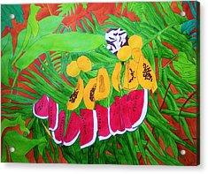 Tropical Fruits Acrylic Print by Michaela Bautz