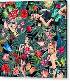 Tropical Fun Sexy  Acrylic Print