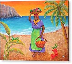 Tropical Harvest Acrylic Print by Pamela Allegretto