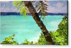 Tropical Hawaiian Palm Acrylic Print