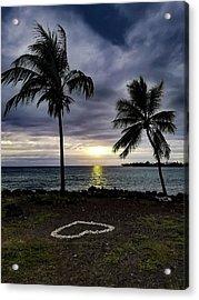 Acrylic Print featuring the photograph Tropical Hawaiian Sunset by Pamela Walton