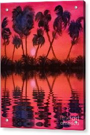 Tropical Heat Wave Acrylic Print