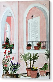 Tropical Home Acrylic Print by Cathy Jourdan