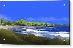 Tropical Island Coast Acrylic Print