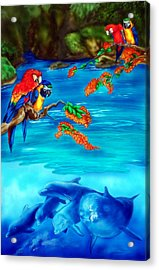 Tropical Lagoon Acrylic Print